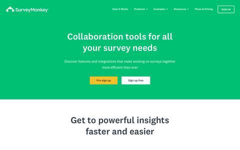 Collaboration Tools for Surveys | SurveyMonkey