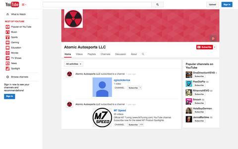 Screenshot of YouTube Page youtube.com - Atomic Autosports LLC  - YouTube - captured Oct. 23, 2014