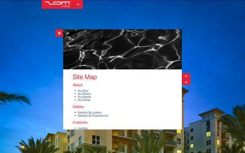 Screenshot of Site Map Page zomusa.com - ZOM LIVING - Site Map - captured Oct. 7, 2014