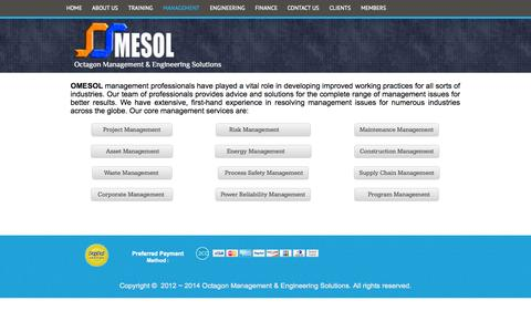 Screenshot of Team Page omesol.com - Octagon Management & Engineering Solutions - MANAGEMENT - captured Oct. 6, 2014