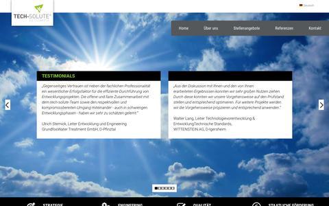 Screenshot of Testimonials Page tech-solute.de - tech-solute - Der Ideenmotor - Testimonials - captured March 28, 2017