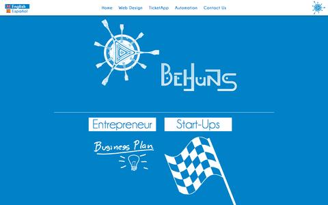 Screenshot of Home Page behuns.com - Home | Behuns.com - captured Sept. 13, 2015