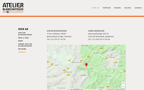 Screenshot of Contact Page atelierblanchefosse.eu - Contact — Atelier Blanchefosse - captured July 31, 2018