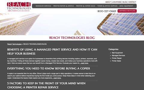 Screenshot of Blog reach-technologies.com - REACH TECHNOLOGIES BLOG - Reach Technologies - captured Sept. 28, 2018