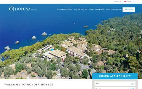 Screenshot of Home Page hoposa.es - Hotels & Resorts - Mallorca, Spain | Hoposa Hotels - captured Jan. 16, 2016