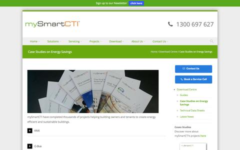 Screenshot of Case Studies Page mysmartcti.com.au - Case Studies on Energy Savings | mySmartCTI - captured Jan. 23, 2016