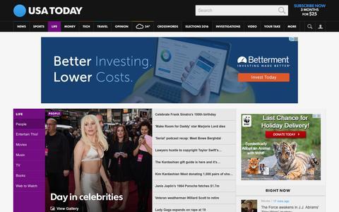 Screenshot of Team Page usatoday.com - Celebrity Photos, Videos and Interviews - USATODAY.com - captured Dec. 13, 2015