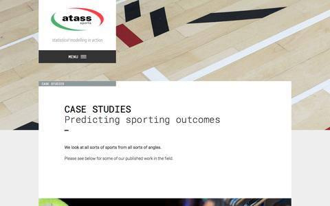 Screenshot of Case Studies Page atass-sports.co.uk - Case Studies | Atass Sports - captured Jan. 6, 2017
