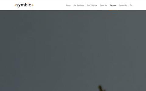 Screenshot of Jobs Page symbio.com - Careers - Symbio - captured Sept. 16, 2014