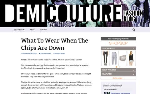 Screenshot of Home Page demicouture.ca - demiCouture | fashion blog | style blog | vancouver fashion by Victoria Potter - captured Oct. 5, 2014