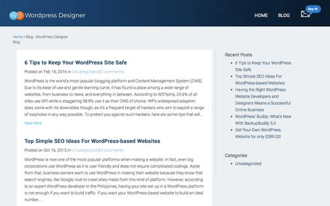 Blog - WordPress Designer