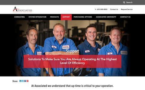 Screenshot of Support Page associated-solutions.com - Forklift Certification | Forklift Training | Associated - captured Nov. 21, 2016