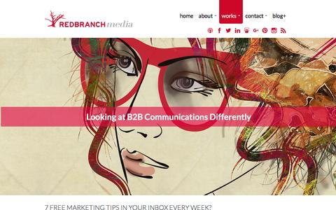 Screenshot of Home Page redbranchmedia.com - Red Branch Media - A Full-Service Marketing Agency for HR and Recruiting Technologies - captured Jan. 10, 2016