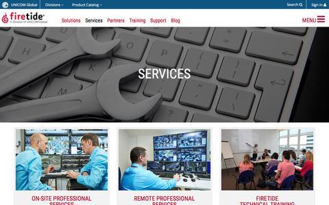 Screenshot of Services Page firetide.com - Firetide :: Services - captured July 3, 2016