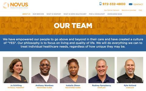 Screenshot of Team Page novushs.com - Our Team - Novus Health Services - captured Nov. 3, 2014