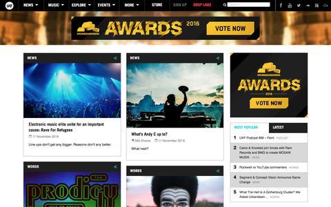 Screenshot of Press Page ukf.com - News - UKF - captured Nov. 12, 2016