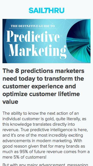 Sailthru - The Definitive Guide to Predictive Marketing