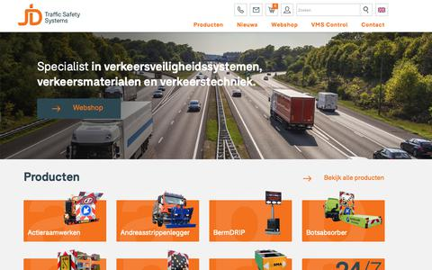 Screenshot of Home Page trafficsafetysystems.eu - Verkeersveiligheidssystemen - Verkeersmaterialen - Wegbebakening - Verkeersveiligheidssystemen - Verkeersmaterialen - Wegbebakening - captured Oct. 1, 2018
