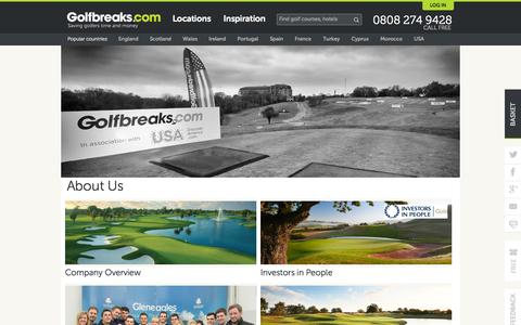 Screenshot of About Page golfbreaks.com - About Us | Golfbreaks.com - captured Oct. 27, 2014