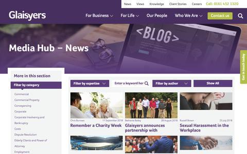 Screenshot of Press Page glaisyers.com - News Archives | Glaisyers - captured Sept. 28, 2018