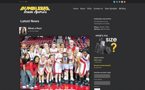 Screenshot of Blog bbteamsports.com - Latest News | Bumblebee Team Sports - captured Oct. 5, 2014