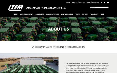 Screenshot of About Page tfmltd.com - About Us - TFM - captured Nov. 19, 2018