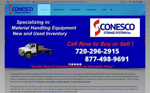 Screenshot of Home Page conesco.com - Conesco - Conesco Storage Systems Inc. - captured Sept. 24, 2014
