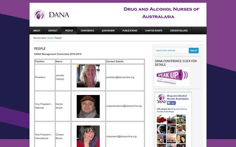 Screenshot of Team Page danaonline.org - People - captured Oct. 5, 2014
