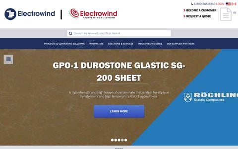 Screenshot of Home Page electro-wind.com - Home page - captured July 12, 2016