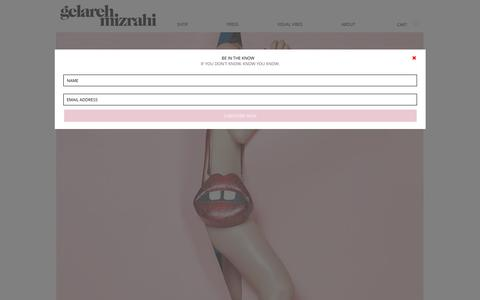 Screenshot of Home Page gelarehmizrahi.com - Gelareh Mizrahi Handbags and Accessories - captured Oct. 31, 2016