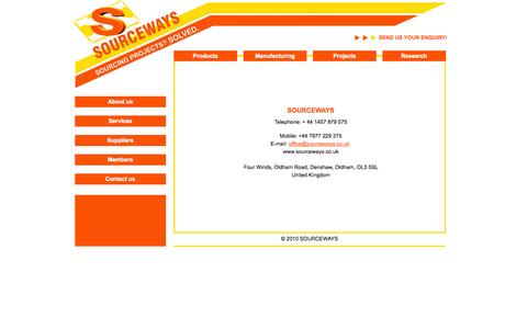 Screenshot of Contact Page sourceways.co.uk - SOURCEWAYS Contact us | info - captured Sept. 30, 2014