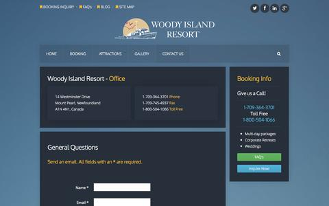Screenshot of Contact Page woodyi.com - Contact Us - Woody Island Resort - captured Oct. 26, 2014