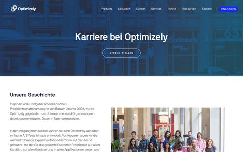 Screenshot of Jobs Page optimizely.com - Jobs & Karriere - captured Sept. 24, 2018