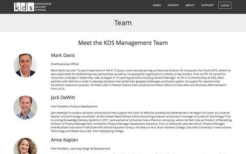 Screenshot of Team Page kdsi.org - Team | KDS - captured Nov. 27, 2016
