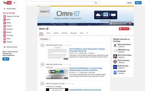 Screenshot of YouTube Page youtube.com - Omni -ID  - YouTube - captured Oct. 29, 2014