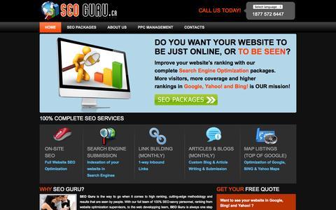 Screenshot of Home Page seo-guru.ca - Professional SEO services in Montreal - seo-guru.ca - captured Oct. 6, 2014