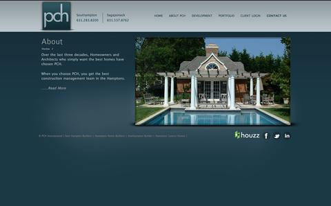 Screenshot of About Page pchinc.com - About PCH, Inc | Hamptons Property Management  | PCH Inc.- Builders and Property Management - captured July 14, 2018