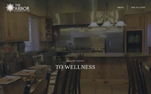 Screenshot of Home Page thearbor.com - Substance Abuse Treatment Center Texas | Drug & Alcohol Rehab Austin - captured July 20, 2019