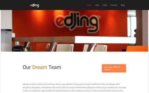 Screenshot of Team Page edjing.com - edjing Team - captured Sept. 11, 2014