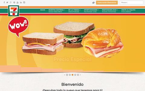 Screenshot of Home Page 7-eleven.com.mx - 7-Eleven M�xico - captured Nov. 11, 2015