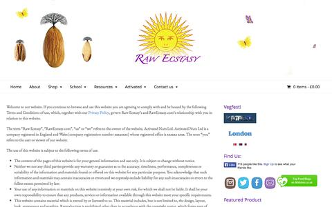 Screenshot of Terms Page rawecstasy.co.uk - Terms & Conditions - Raw Ecstasy - captured Oct. 26, 2014