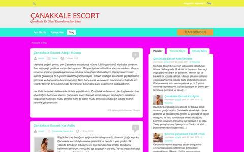 Screenshot of Blog canakkalesolar.com - Blog | ÇANAKKALE ESCORT - captured May 7, 2017