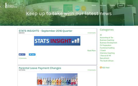 Screenshot of Press Page integratedintelligenceltd.com - Integrated Intelligence Limited - News - captured Aug. 6, 2016