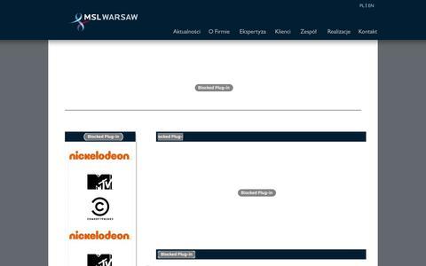 Screenshot of Home Page mslwarsaw.pl - MSL Warsaw - captured Dec. 19, 2015