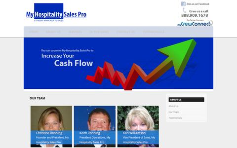 Screenshot of Team Page myhospitalitysalespro.com - Our Team   My Hospitality Sales Pro - captured Feb. 22, 2016