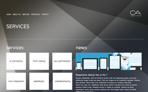 Screenshot of Services Page creativead.me - SERVICES - Web design and developing / Creativead.me Montenegro - captured Nov. 2, 2014