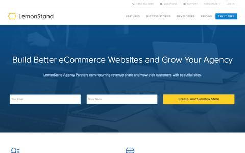 Screenshot of Developers Page lemonstand.com - The eCommerce Platform for Developers and Designers   LemonStand - captured Nov. 18, 2015