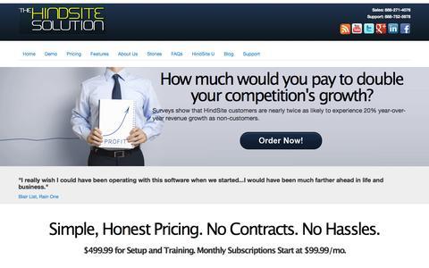 Screenshot of Pricing Page hindsitesoftware.com - Field Service Software for Service Businesses | HindSite Software - captured Dec. 10, 2015