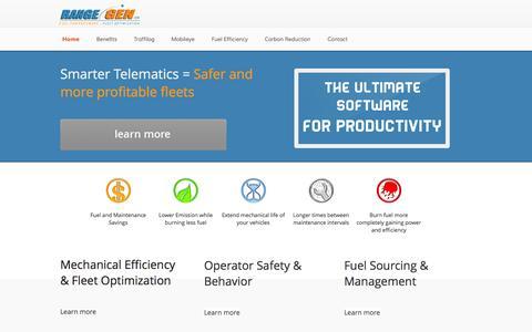 Screenshot of Home Page rangegen.com - Range Gen, LLC - captured Oct. 6, 2014