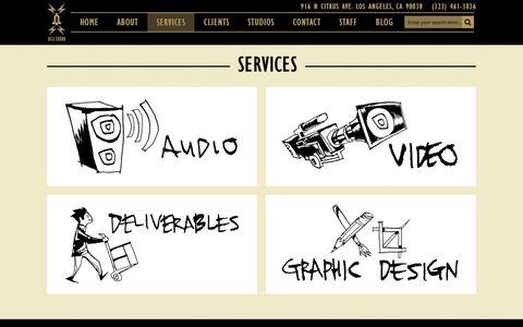Screenshot of Services Page bellsound.com - Services | Bell Sound Studios - captured Feb. 7, 2016